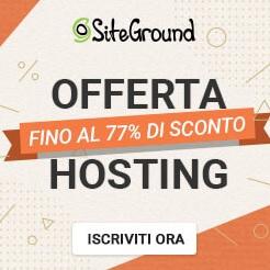 Siteground offerta hosting