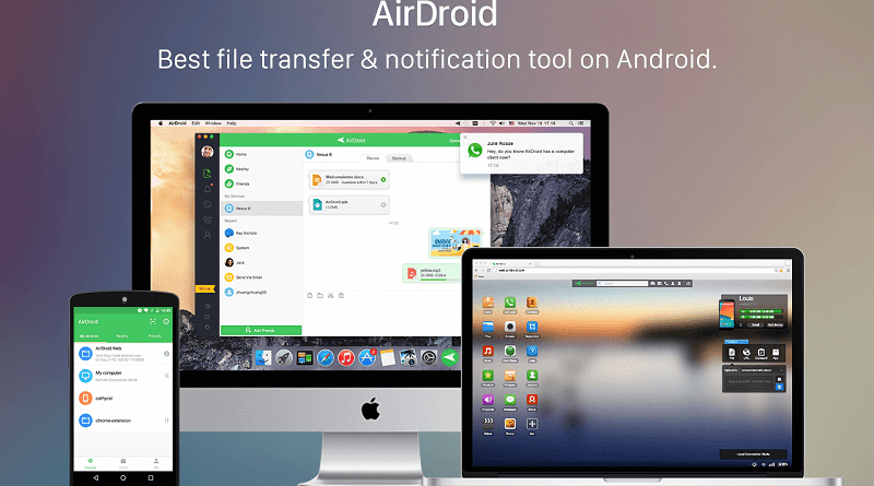 how to transfer files from pc to smartphone with airdroid