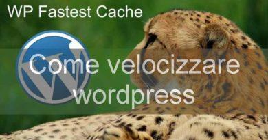 come velocizzare wordpress con il plugin wp fastest cache