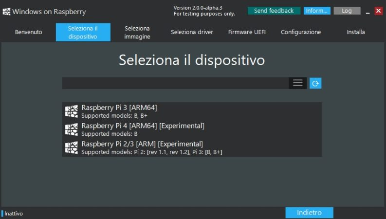 windows 10 su raspberry