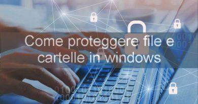 come proteggere file