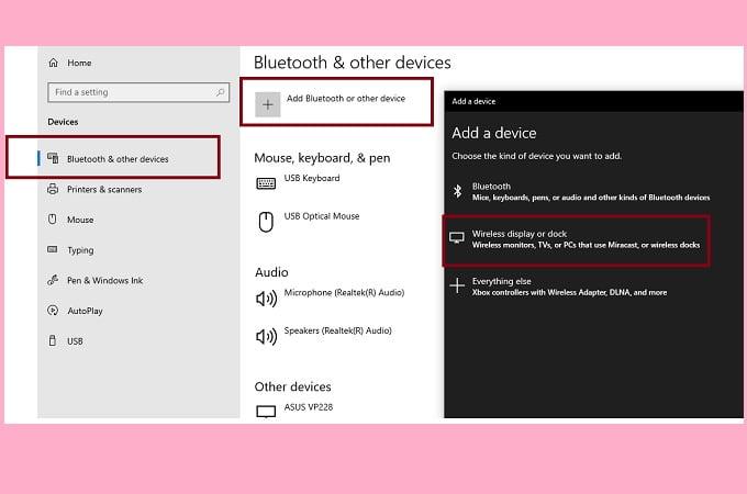 come condividere lo schermo in windows 10