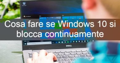 Windowssibloccacontinuamente