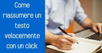 Devi riassumere un testo è non sai come fare? Scopri uno strumento online gratuito per creare riassunti eccellenti.