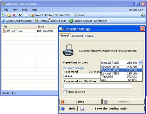 proteggere con password file e cartelle