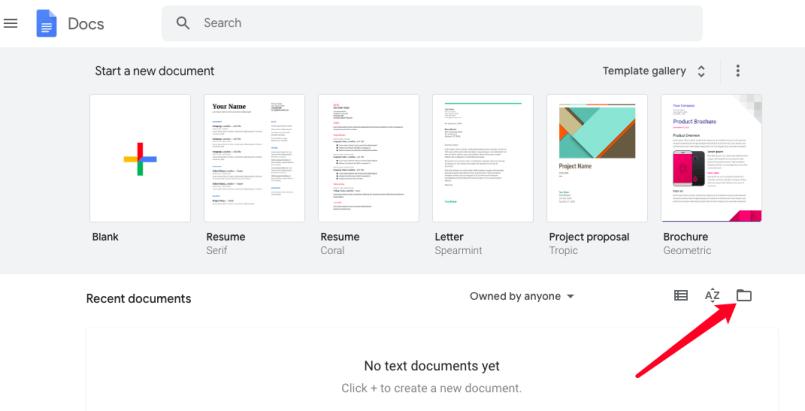 aggiungi file in google docs