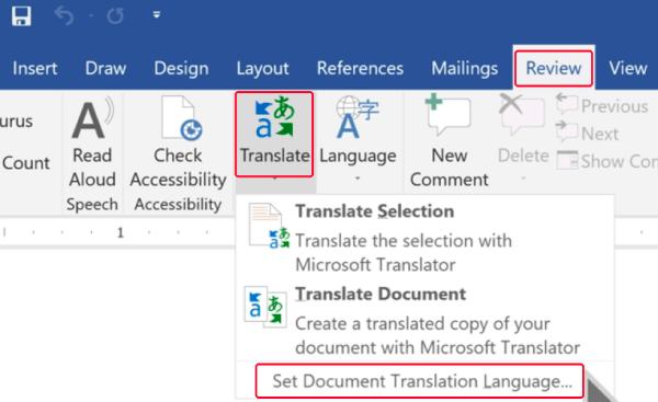 scegli lingua di traduzione documento