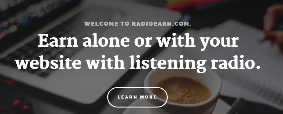 guadagnare soldi online con RadioEarn