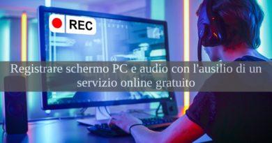 registrare schermo pc