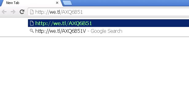 Copia e incolla il link nel browser