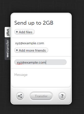 Compila il form e invia il file