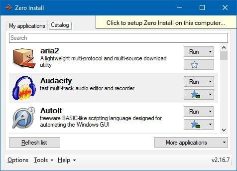 download zero install per velocizzare windows 10
