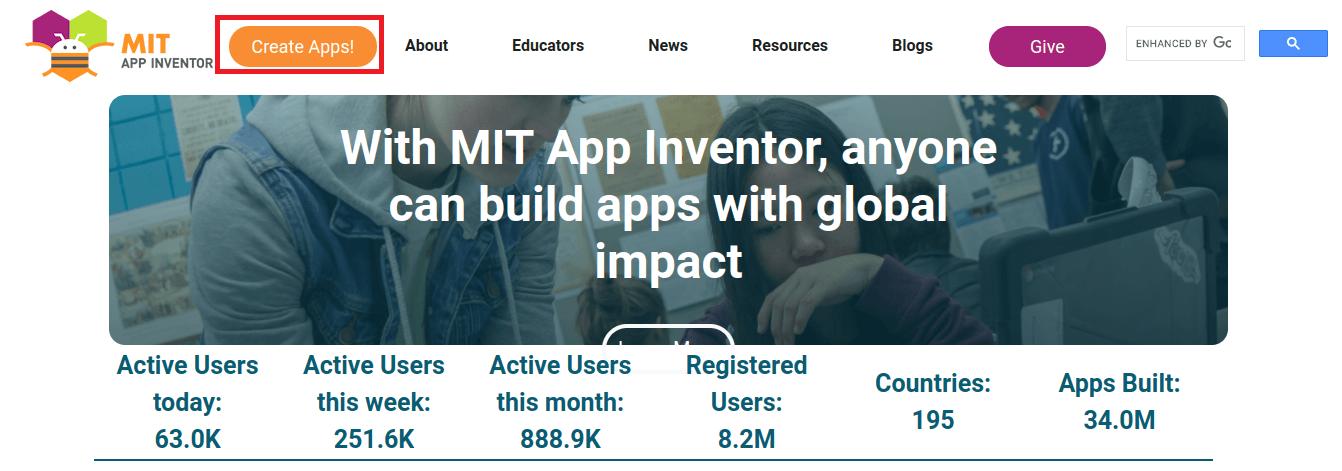 creare un app con MIT App Inventor