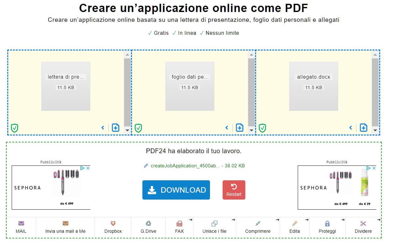 crea applicazione pdf