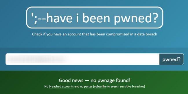 violazione della privacy con Have I Been Pwned