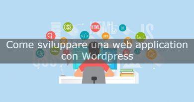 come sviluppare web application con wordpress