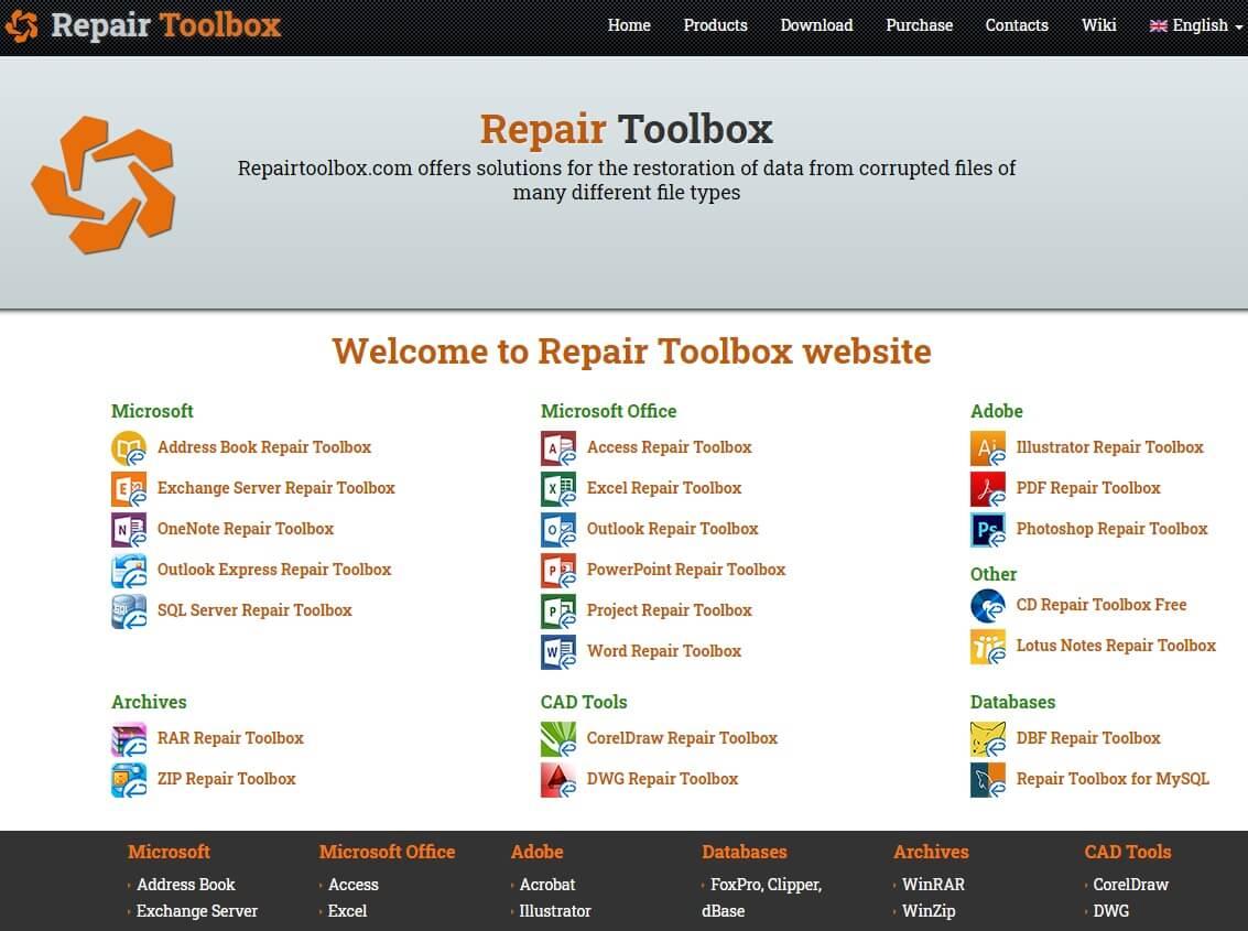 recuperare file danneggiati con Repait ToolBox