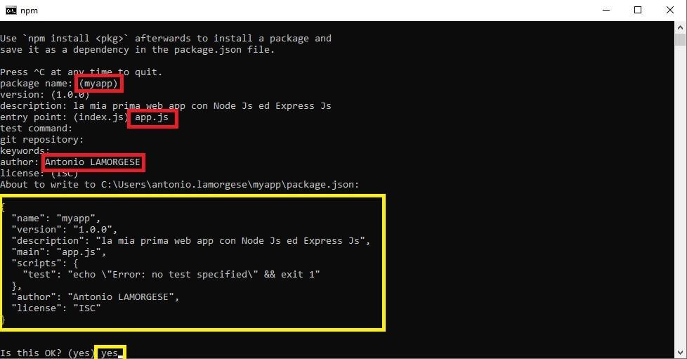 npm init in Node Js