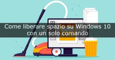 liberare spazio su Windows 10