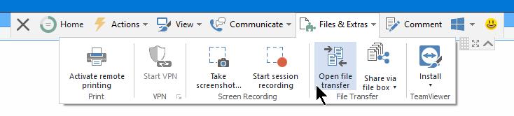 teamviewer - scheda file & Extra