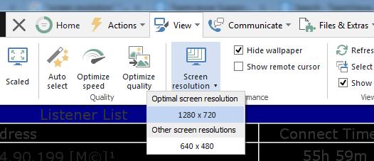 impostazione dimensioni schermo