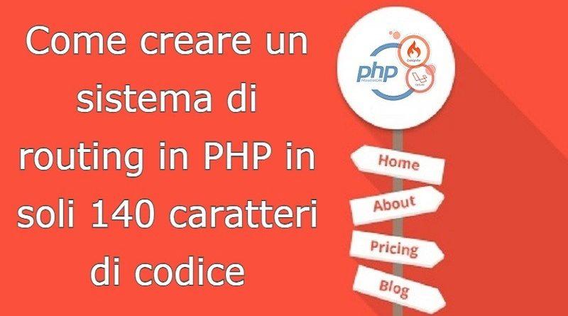 come creare un sistema di routing in php